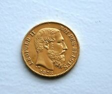 1878 Belgium Leopold II 20 Francs Gold Coin in Near Mint condition