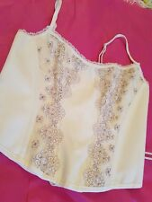MYLA BUTTERCREAM CORSET LARGE WITH LACE/PEARL FRONT BNWT AGENT PROVOCATEUR SAUCE