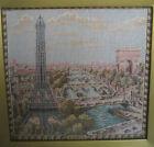 Vintage Tapestry Gobelin Paris Eiffel Tower Triumphal Arch Ponts Seine Art Decor