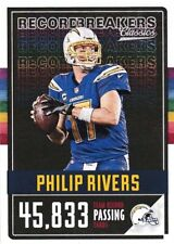 Philip Rivers 2017 Panini Classics Football, Record Breakers, Sammelkarte
