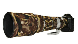 Canon EF 500mm f4 L IS USM neoprene lens camouflage coat cover Brown Grass Camo