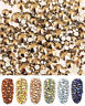 1440pcs Crystal Ore Gold Nail Art Rhinestones Flatback Strass Glass Stones Beads