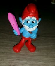 McDonalds Happy Meal Toy 2013 The SMURFS Pappa Smurf with Crystal