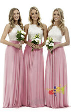 New Chiffon Lace Long Evening Formal Party Ball Gown Prom Bridesmaid Dresse 6~26