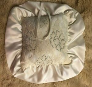 Wedding Must have Ring Bearer Pillow Adorned made with Swarovski Crystals