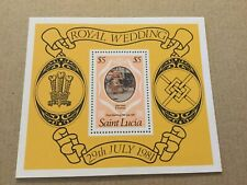 1981 Mint Mini Sheet From St Lucia For The Royal Wedding