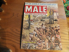 Vintage Man's Magazine MALE Aug 1959 Pin Up Girls Eight Sweet Dolls For Dr Cream