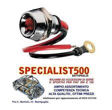 FIAT 500 F/L/R 126 INDICATORE LUCE COLORE ROSSO SPIA A LED DA CRUSCOTTO CROMATA