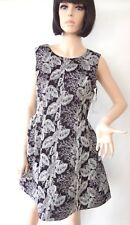 Woman Dress by CALIN KLEIN Embroidered Black White . NWT . Limited . BEAUTIFUL