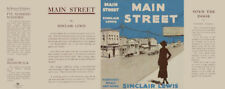 Sinclair Lewis MAIN STREET facsimile dust jacket first edition & early books