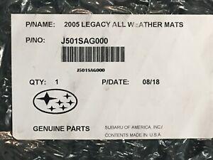 2005-2009 Subaru Outback & Legacy All Weather Floor Mats Black Rubber J501SAG000