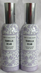 Bath & Body Works Concentrated Room Spray VANILLA BEAN Lot Set of 2