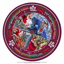 "Texas A&M Tree Skirt-Table Cover-Felt-46-1/4"" x 46-1/4""-Santa-Presen ts"