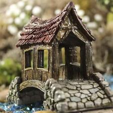 Miniature Fairy Garden Covered Bridge Faerie Hobbit Gnome  Dollhouse GO 16675