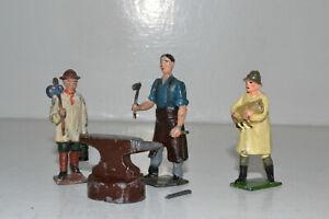 Vintage lead farm - SHEPHERD BOY, BLACKSMITH & SHEPHERD AND LAMB