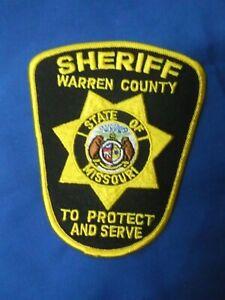WARREN COUNTY, MISSOURI MO POLICE SHERIFF PATCH