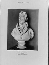 Portrait Robert Fulton peintre buste Houdon Musée de la Marine ILLUSTRATION 1959