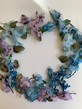 New listing Pretty Lot Vintage Blue Millinery Flowers & Blossoms