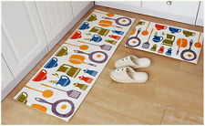 2 x Non Slip Bathroom Mat Water Absorbent Carpet Kitchen Bedroom Rug Floor Door