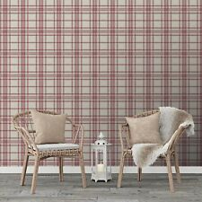 Superfresco Easy Red Country Tartan Checkered Wallpaper