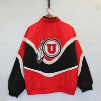 Vintage Utah Utes NCAA Full Zip Apex One Insulated Jacket Red Black Size Small