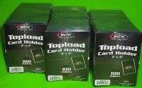 300 TOPLOAD CARD HOLDERS FOR SPORTS/ TRADING CARDS,12M 3 X 4 RIGID PLASTIC, NEW!