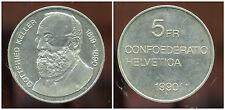 SUISSE 5 francs 1990