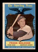 1959 Topps Set Break # 558 Frank Malzone All Star VG-EX *OBGcards*