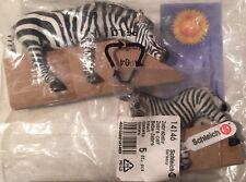Schleich Wild life Afrika Wildtiere Zebra Zabrababy 14609 14146 2 Tiere new NEU