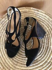 COCLICO Black Suede Sandals, 41/10US