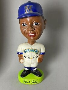 1974 Sports Specialties Hank Aaron BobbleHead Figurine Nodder Brewers Vintage