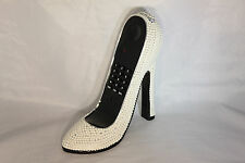 High Heel Shoe Telephone with Rhinestone Bling in White N 220