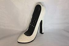 High Heel Shoe Telephone with Rhinestone Bling in White N 220