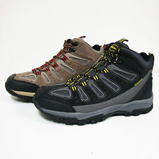 New Men's Hiking Boots Leather & Nylon Waterproof Lace Up Comfort Warm, Sizes