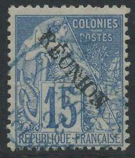 """REUNION N°22a Variété """"E"""" avec accent, Cote : 135€,  France Colony (error)"""