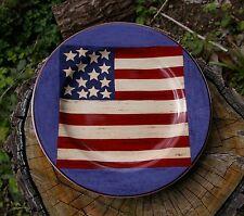 Warren Kimble Brandon House Plate Spirit of the Flag American 4th of July Dish