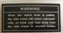 KAWASAKI KE125 KE175 KH125 WARNING CAUTION WARNING DECAL