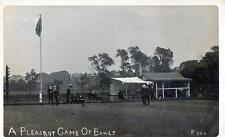 Bowling Green Bowls RP old postcard Rock Ferry Nr Birkenhead postmark used 1908