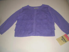OSHKOSH B'GOSH PURPLE RUFFLE CARDIGAN 18 MONTHS NEW