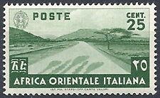 1938 AFRICA ORIENTALE ITALIANA SOGGETTI VARI 25 CENT MNH ** - RR12010