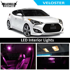 Pink LED Interior Lights Replacement Kit for 2011-2017 Hyundai Veloster 8 bulbs
