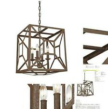 New Feiss 4 - Light Chandelier. F3171/4WI Weathered Iron