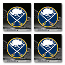 Buffalo Sabres Hockey Rubber Square Coaster set (4 pack) Src2063