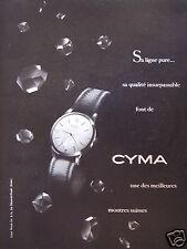 PUBLICITÉ 1952 CYMA LIGNE PURE UNE DES MEILLEURES MONTRES SUISSE - ADVERTISING