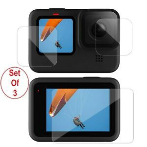 3 x Tempered Glass Screen Protector for Go Pro Hero 9 Black Camera