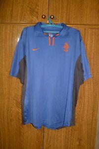Netherlands Team Nike Football Shirt Away 2000/2001/2002 Blue Jersey Men Size XL