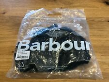 New Barbour Black Waxed Detachable Hood - Quilted Lining - RRP £35 Tagged/Bagged