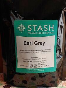 Stash Earl Grey Premium Loose Leaf Tea 1 Lb. Bag BB 1/12/22