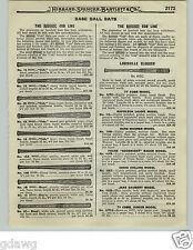 1919 PAPER AD Louisville Slugger Decal Ty Cobb Nap LaJoie Rev-O-Noc Chicago Cubs