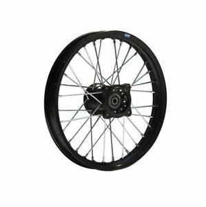 HMParts Pit Dirt Bike Cross Alu Jante Anodisé 17 Pouces avant Noir 15 MM Typ2